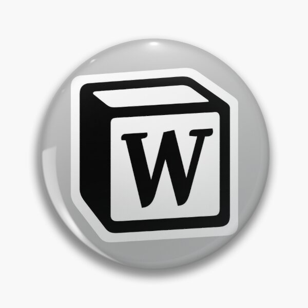 "Letter ""W"" Block Personalised Monogram Pin"