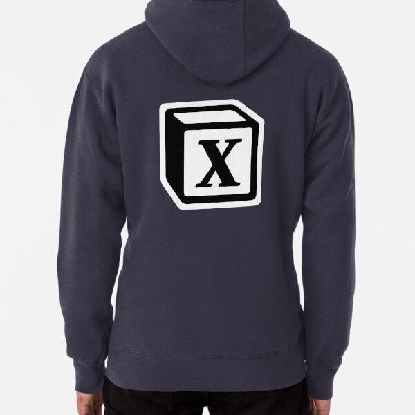 """Letter """"X"""" Block Personalised Monogram Pullover Hoodie"""