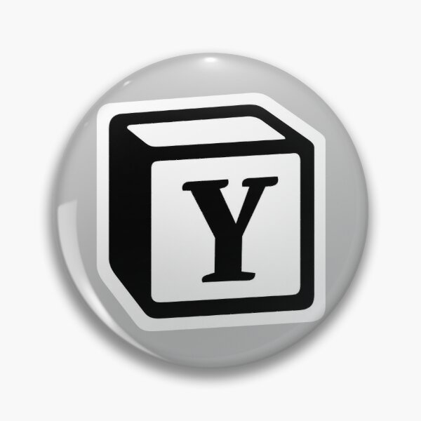 "Letter ""Y"" Block Personalised Monogram Pin"