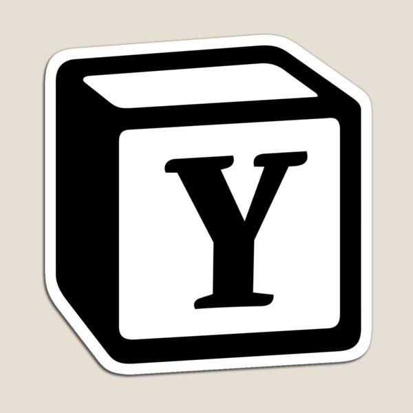 """Letter """"Y"""" Block Personalised Monogram Magnet"""