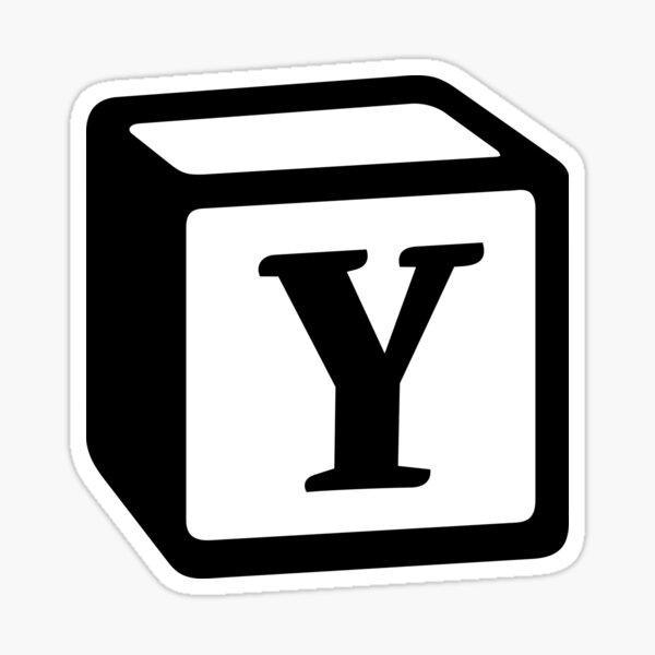 "Letter ""Y"" Block Personalised Monogram Sticker"