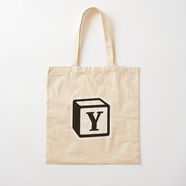 "Letter ""Y"" Block Personalised Monogram Cotton Tote Bag"
