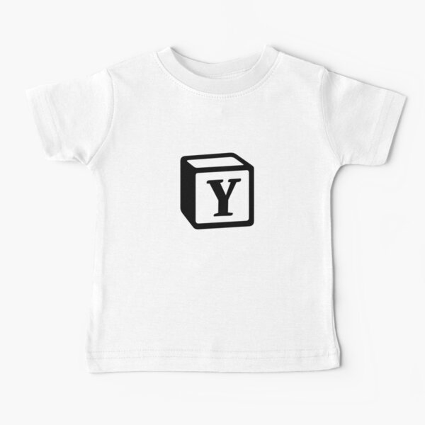 "Letter ""Y"" Block Personalised Monogram Baby T-Shirt"