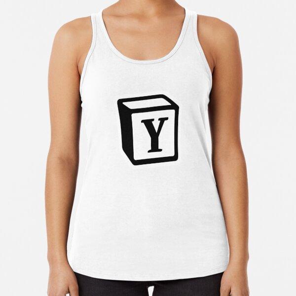 """Letter """"Y"""" Block Personalised Monogram Racerback Tank Top"""