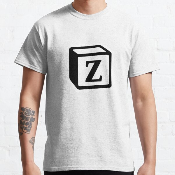 "Letter ""Z"" Block Personalised Monogram Classic T-Shirt"
