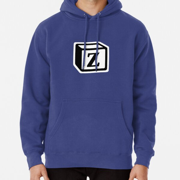 """Letter """"Z"""" Block Personalised Monogram Pullover Hoodie"""