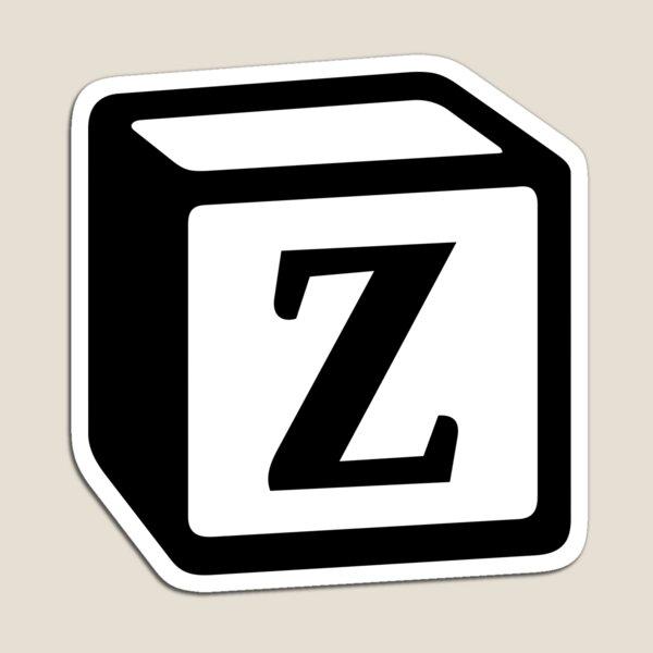 """Letter """"Z"""" Block Personalised Monogram Magnet"""