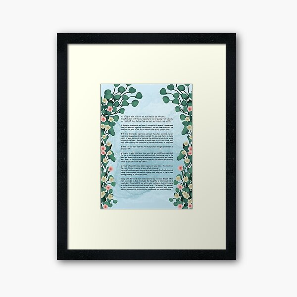 I recover quickly Framed Art Print