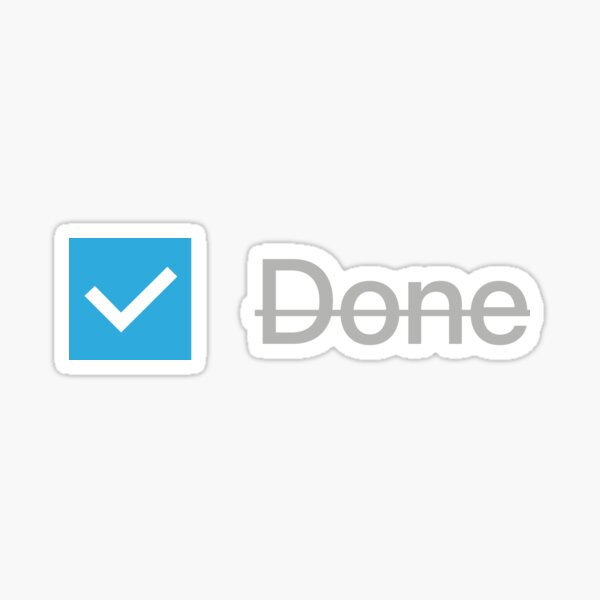Checkbox (Done) Block Sticker