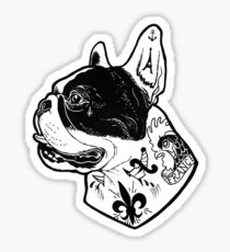 Tattooed French Bulldog Sticker