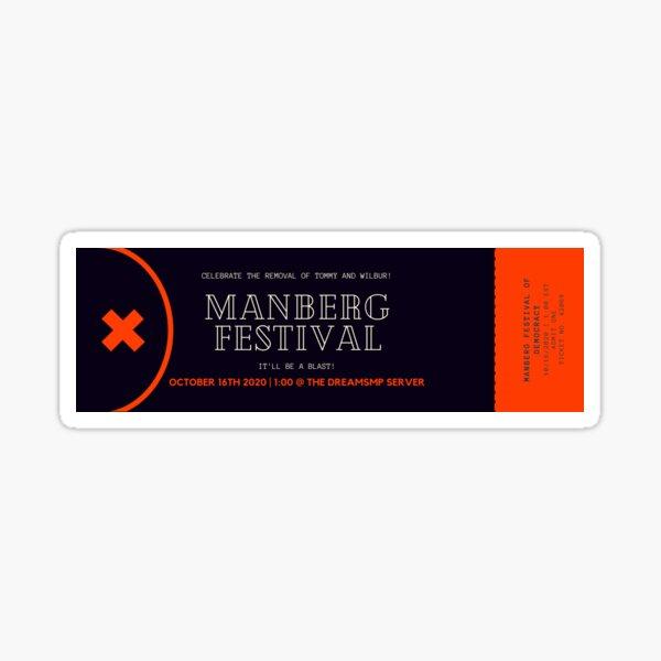 Manberg Festival Ticket Sticker
