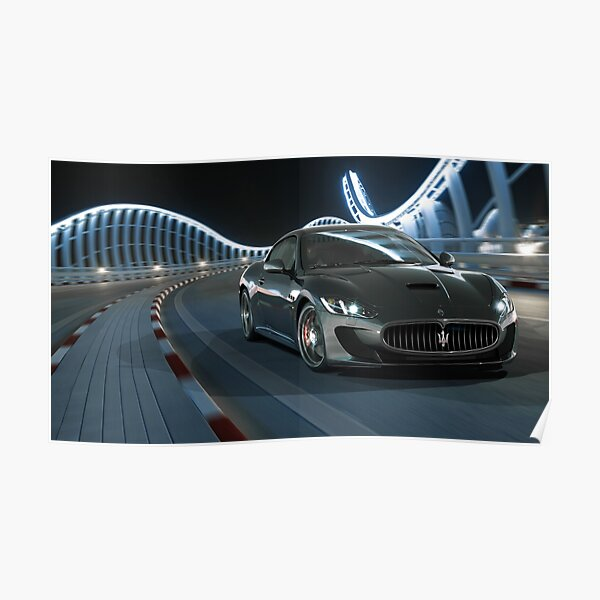 Maserati GranTurismo 4k Highest Print Quality Poster