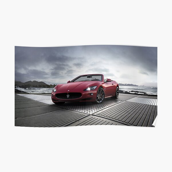 Red Maserati 4k Poster