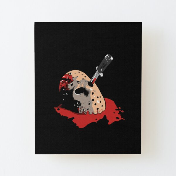 Jason Voorhees mask Wood Mounted Print