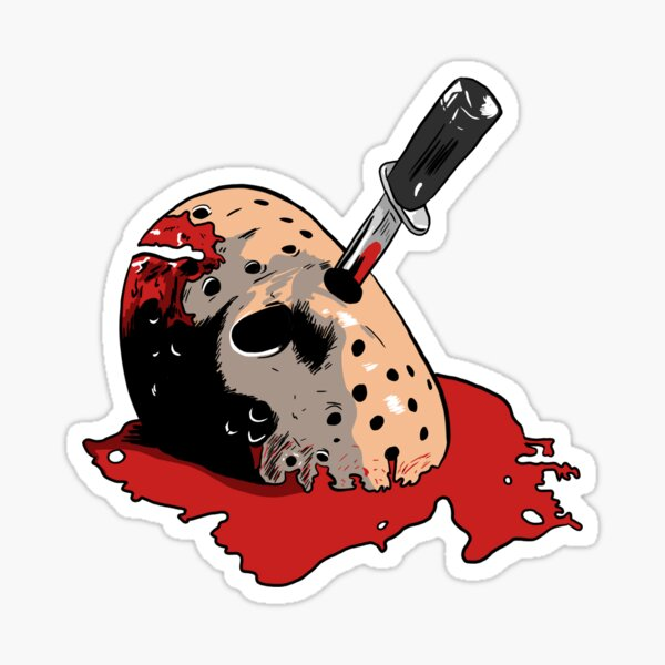 Jason Voorhees mask Sticker