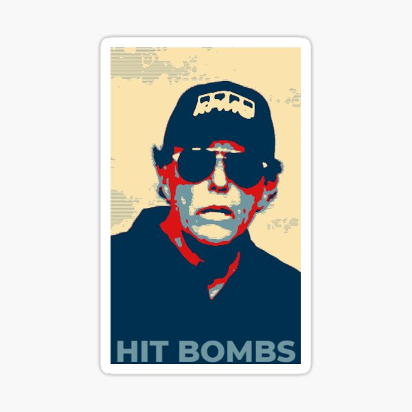 Frapper des bombes Sticker