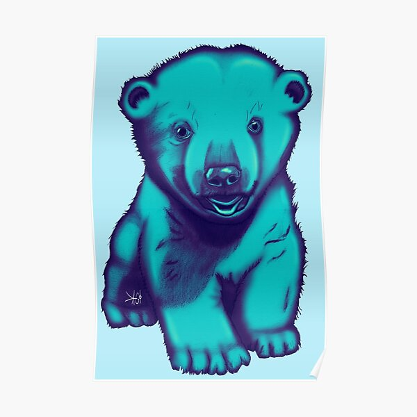 Eisbär Gezeichnet T-Shirt Kunst Poster