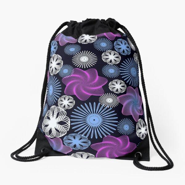 Dancing Spirographs Drawstring Bag