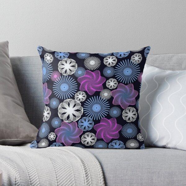Dancing Spirographs Throw Pillow