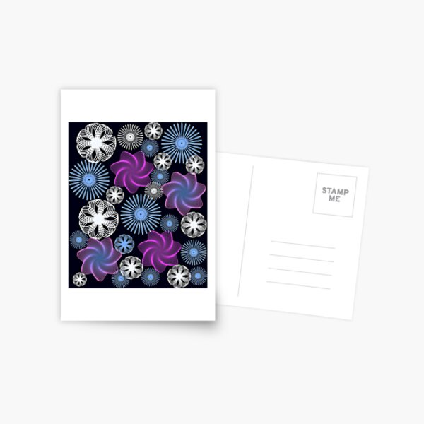 Dancing Spirographs Postcard