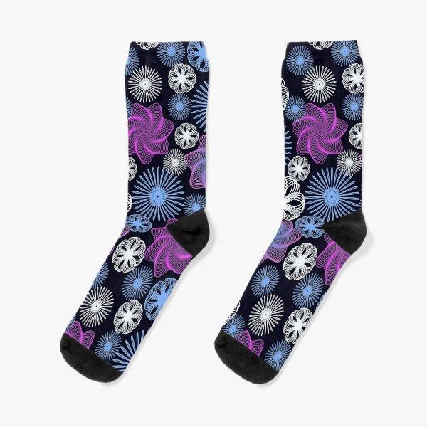Dancing Spirographs Socks