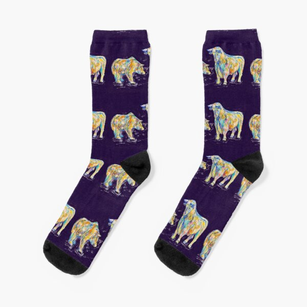 Bull and bear Socks