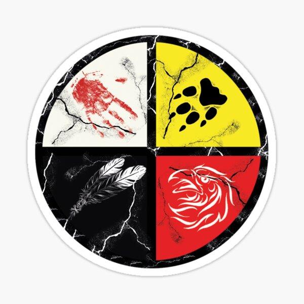 Native American-medicine wheel Sticker