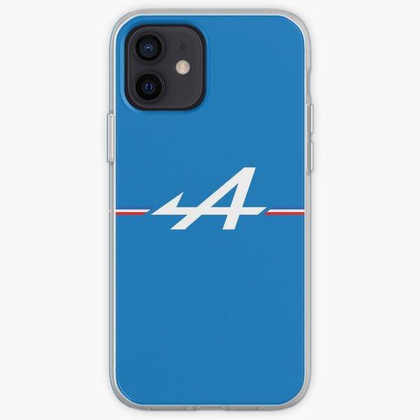 Logo Alpine Bleu blanc rouge tricolore F1 Coque souple iPhone