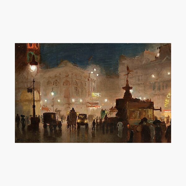 Piccadilly Circus - George Hyde Pownall Photographic Print