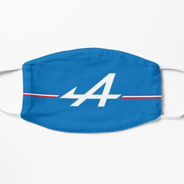 Logo Alpine Bleu blanc rouge tricolore F1 Masque sans plis