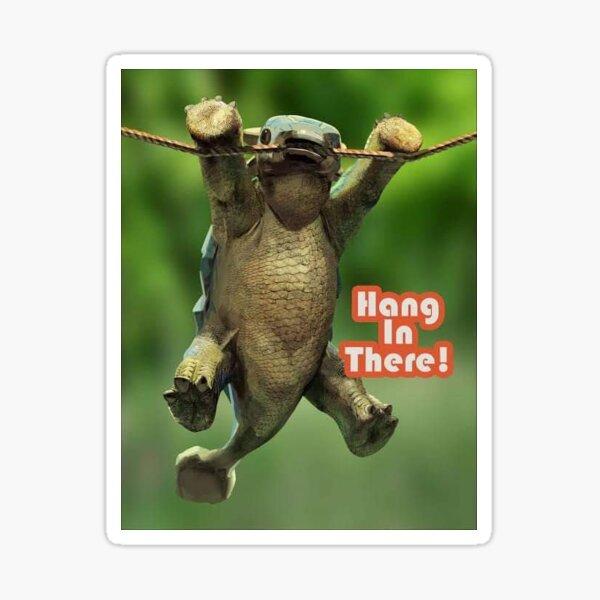 Hang In There! Ankylosaurus Bumpy Sticker