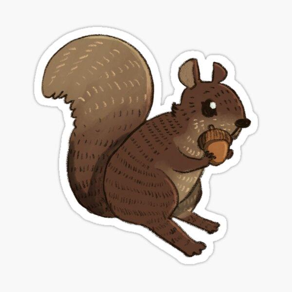 Cute digital watercolor squirrel  Sticker