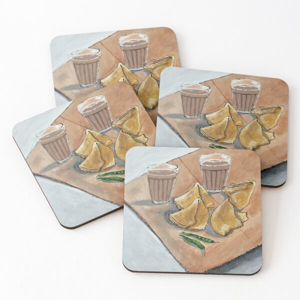 Never hurt a samosa by saying no- they too have fillings inside. Coasters (Set of 4)