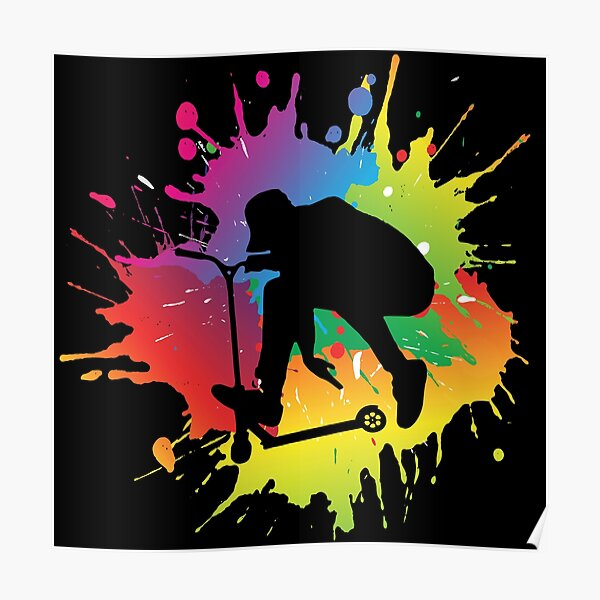 Conception de trottinette acrobatique Poster