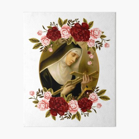 St. Rita of Cascia Art Board Print