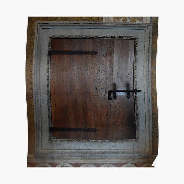 A Hatch Door in Palazzo Ducale, Mantua, Italy Poster