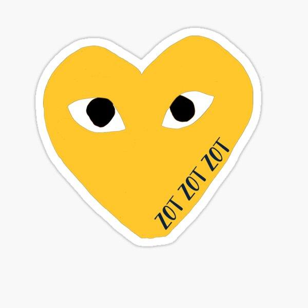 UCI Mascot Designer Heart Eyes Sticker