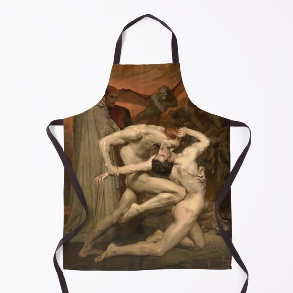 Fine Art: William-Adolphe Bouguereau - Dante And Virgil In Hell Apron