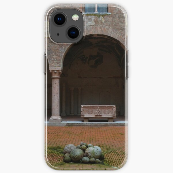 Courtyard of Palazzo Ducale, Mantua, Italy iPhone Soft Case