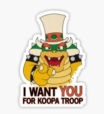 Recruiting for Koopa Troop Sticker