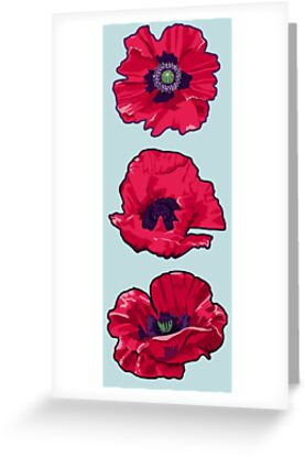Poppies august birth flower greeting cards by lindsayd redbubble poppies august birth flower by lindsayd mightylinksfo Gallery