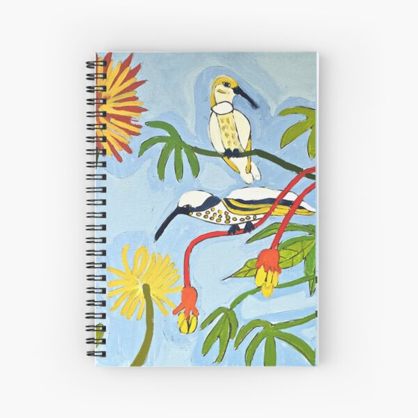 Flowers and Birds Zion Levy Stewart Art Spiral Notebook