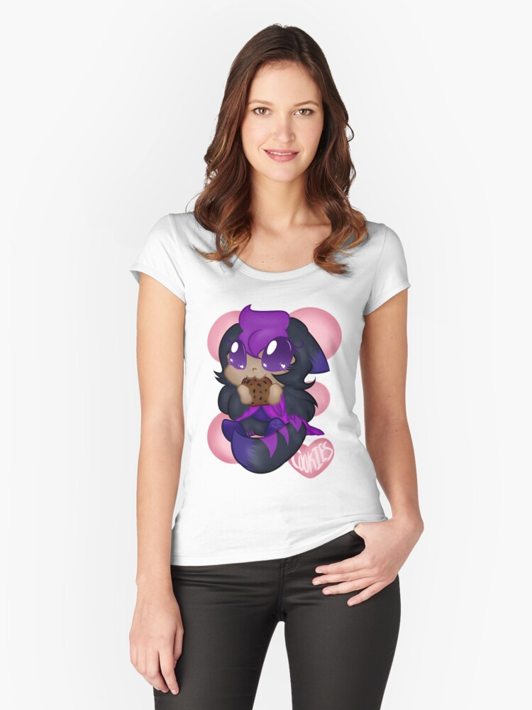 Cookie Love Women's Fitted Scoop T-Shirt Front