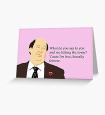 Literally Free Kevin  Greeting Card