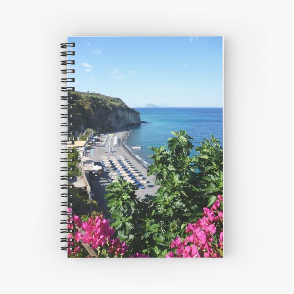 Lipari Beach, Bougainvillea & Fig Spiral Notebook