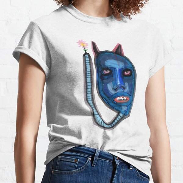 a blue worm holding a flower Classic T-Shirt