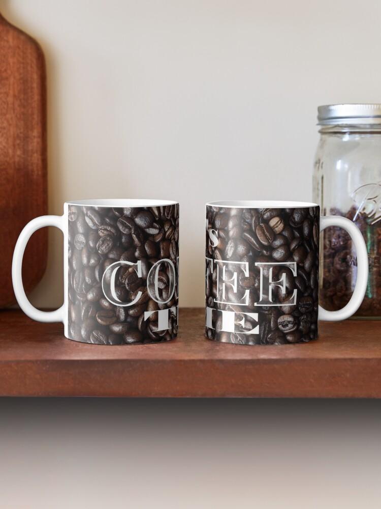 Alternate view of Coffee Beans Design Dark Roasted Mug