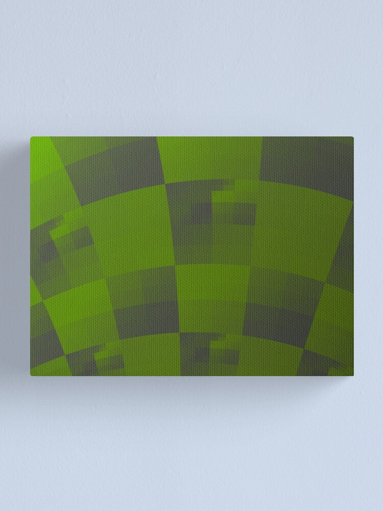 Alternate view of Green Squares Pattern Design Canvas Print