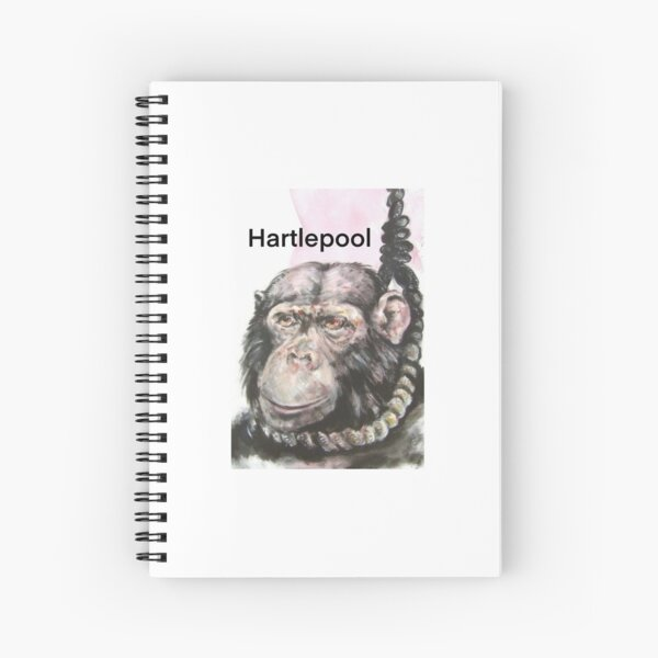 Hartlepool Monkey Spiral Notebook