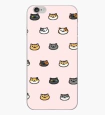 Neko Atsume Kitty Collector Cat Faces iPhone Case